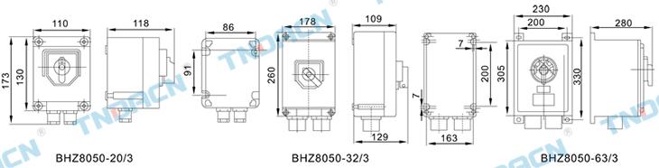 bhz8050 系列防爆防腐转换开关(Ⅱc)_bhz8050 防爆-有